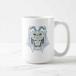Voltron   Voltron Head Blue and White Outline Coffee Mug