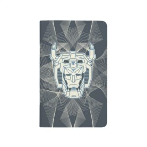 Voltron | Voltron Head Blue and White Outline Journal