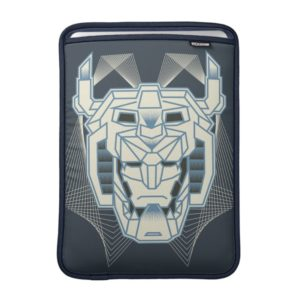 Voltron   Voltron Head Blue and White Outline MacBook Sleeve