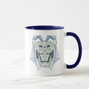 Voltron | Voltron Head Blue and White Outline Mug