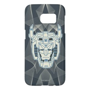 Voltron   Voltron Head Blue and White Outline Samsung Galaxy S7 Case