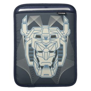Voltron | Voltron Head Blue and White Outline Sleeve For iPads
