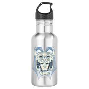 Voltron   Voltron Head Blue and White Outline Stainless Steel Water Bottle