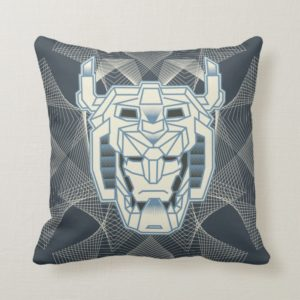 Voltron | Voltron Head Blue and White Outline Throw Pillow
