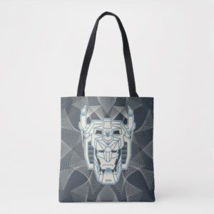 Voltron | Voltron Head Blue and White Outline Tote Bag