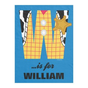 W is for Woody | Add Your Name Fleece Blanket