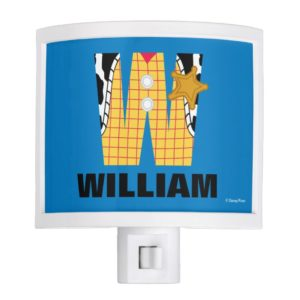W is for Woody | Add Your Name Night Light