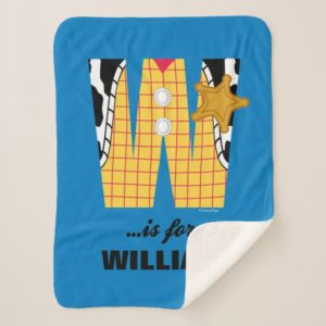 W is for Woody | Add Your Name Sherpa Blanket