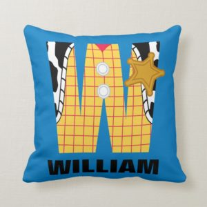 W is for Woody | Add Your Name Throw Pillow