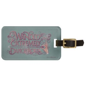 Wanded And Extremely Dangerous Graphic - Pink Bag Tag