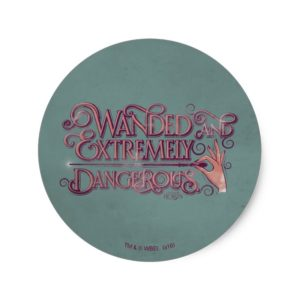 Wanded And Extremely Dangerous Graphic - Pink Classic Round Sticker