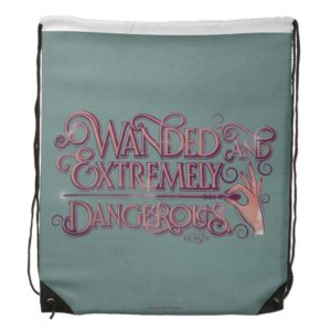 Wanded And Extremely Dangerous Graphic - Pink Drawstring Bag
