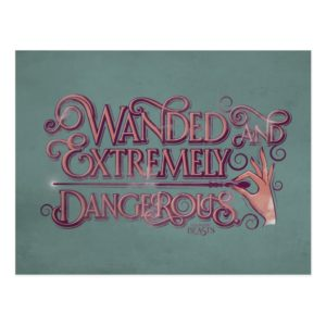 Wanded And Extremely Dangerous Graphic - Pink Postcard