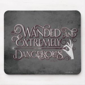 Wanded And Extremely Dangerous Graphic - White Mouse Pad
