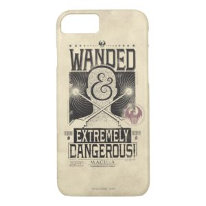 Wanded & Extremely Dangerous Wanted Poster - Black Case-Mate iPhone Case