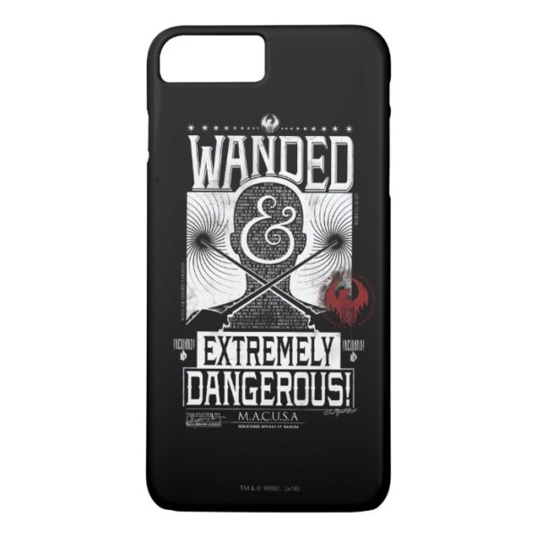 Wanded & Extremely Dangerous Wanted Poster - White Case-Mate iPhone Case