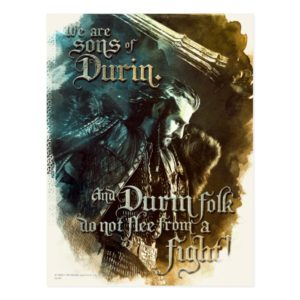 We Are Sons Of Durin Postcard