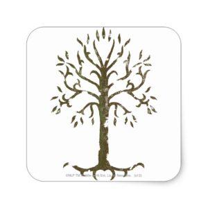 White Tree of Gondor Square Sticker