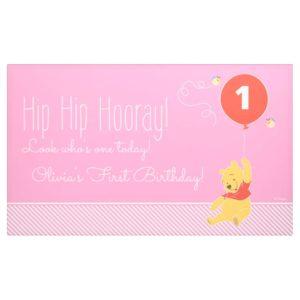 Winnie the Pooh | Baby Girl - First Birthday Banner