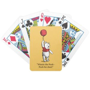 Winnie the Pooh for Short Bicycle Playing Cards