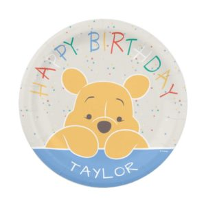 Winnie the Pooh | Happy Birthday Paper Plate
