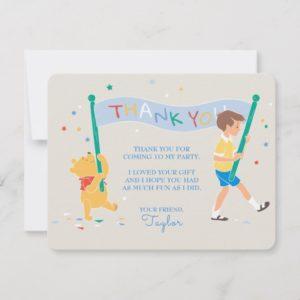 Winnie the Pooh | Happy Birthday Thank You Card