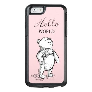 Winnie the Pooh | Hello World Quote OtterBox iPhone Case