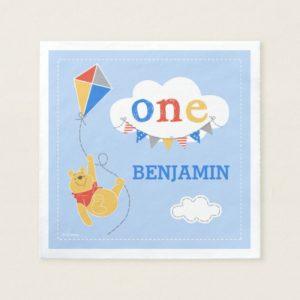 Winnie the Pooh Kite   Baby Boy Napkin