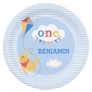 Winnie the Pooh Kite   Baby Boy Paper Plate