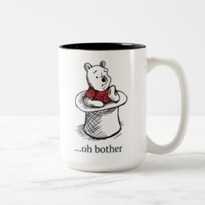 Winnie the Pooh   Oh Bother Quote Two-Tone Coffee Mug