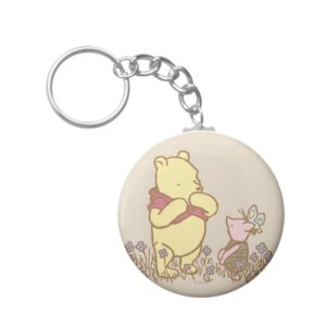Winnie the Pooh | Pooh and Piglet in Field Classic Keychain