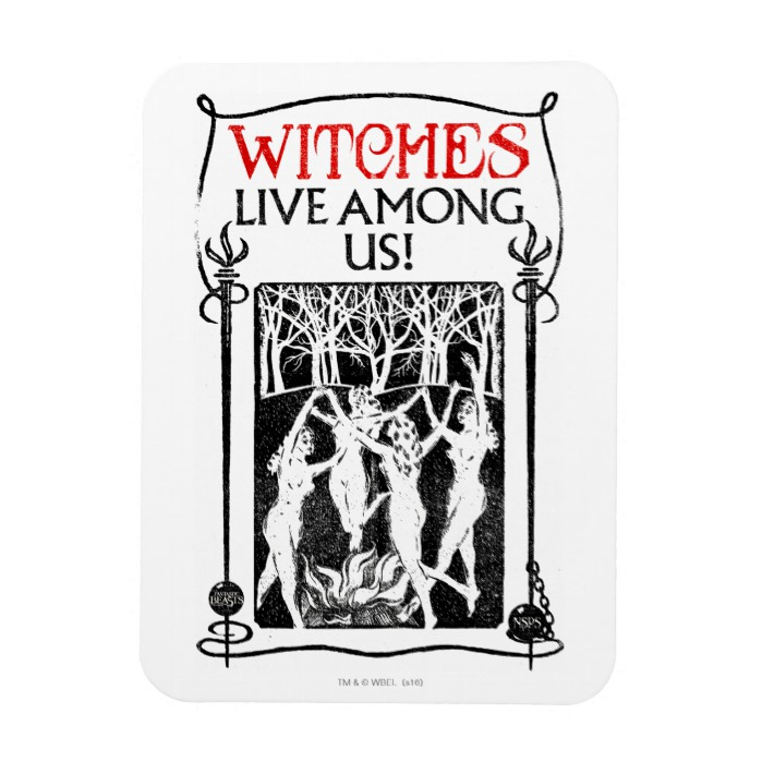 Witches Live Among Us Magnet Custom Fan Art
