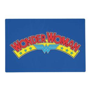 Wonder Woman 1987 Comic Book Logo Placemat