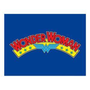 Wonder Woman 1987 Comic Book Logo Postcard