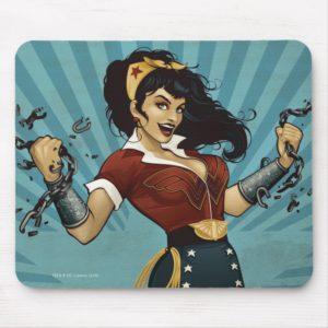 Wonder Woman Amazonians Unite Vintage Poster Mouse Pad