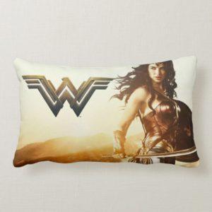 Wonder Woman At Sunset Lumbar Pillow