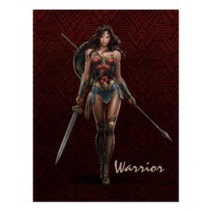 Wonder Woman Battle-Ready Comic Art Postcard