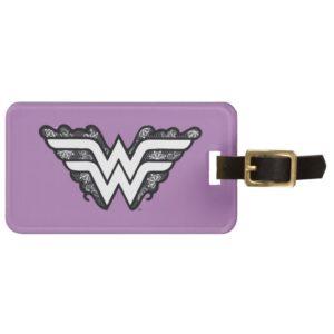 Wonder Woman Black Lace Logo Bag Tag