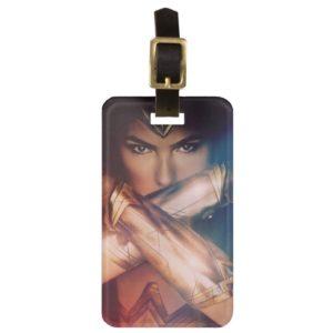 Wonder Woman Blocking With Bracelets Luggage Tag