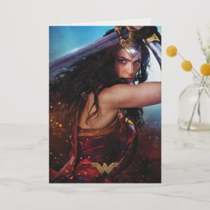 Wonder Woman Blocking With Sword Card