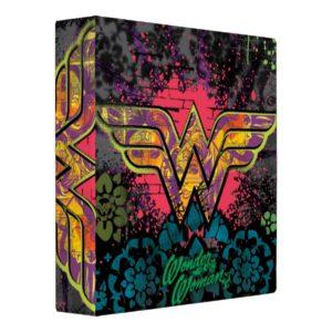 Wonder Woman Brick Wall Collage 3 Ring Binder