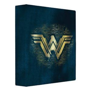 Wonder Woman Brushed Gold Symbol Binder
