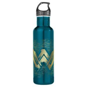 Wonder Woman Brushed Gold Symbol Stainless Steel Water Bottle