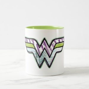 Wonder Woman Colorful Sketch Logo Two-Tone Coffee Mug