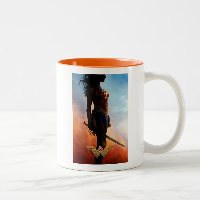 d9fc58e2e98 Wonder Woman Duststorm Silhouette Two-Tone Coffee Mug - Custom Fan Art