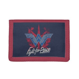 Wonder Woman Fight For Peace Symbol Trifold Wallet
