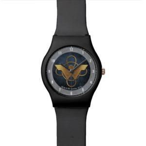 Wonder Woman Gold Symbol Over Lasso Watch
