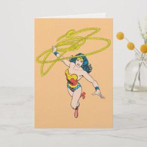 Wonder Woman Holds Lasso 2 Card