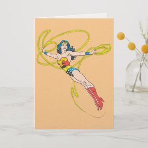 Wonder Woman Holds Lasso 4 Card