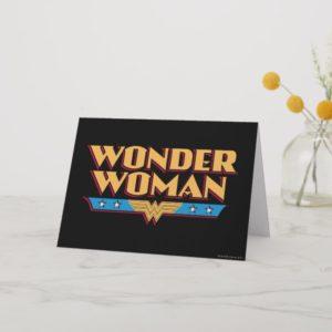 Wonder Woman Logo 2 Card